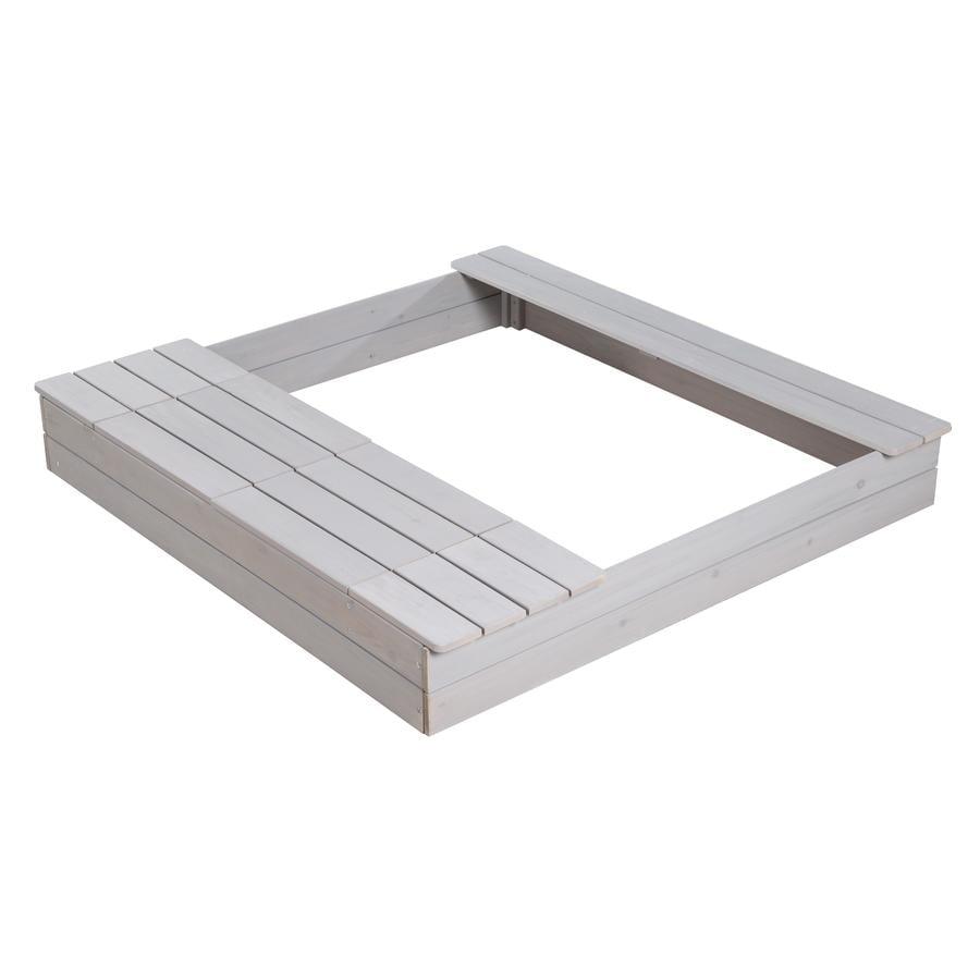 roba Outdoor Sandkasten mit Spielwannen, grau