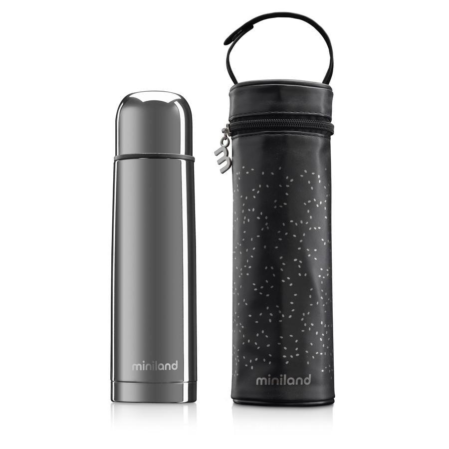 miniland termo de lujo Botella termo con bolsa aislante plata 500ml