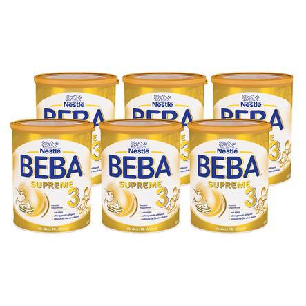 Nestlé Folgenahrung BEBA SUPREME 3 6 x 800 g ab dem 10. Monat