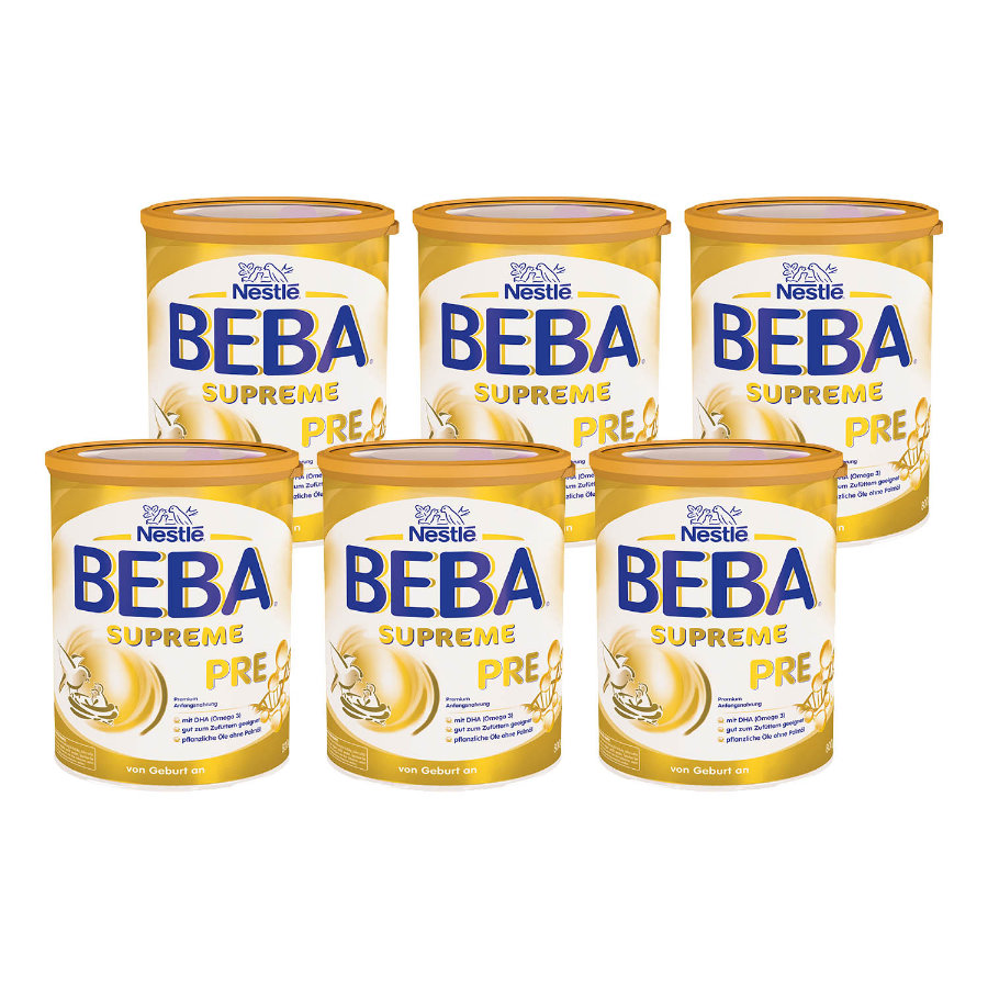 Nestlé Anfangsnahrung BEBA SUPREME Pre 6 x 800 g ab der Geburt