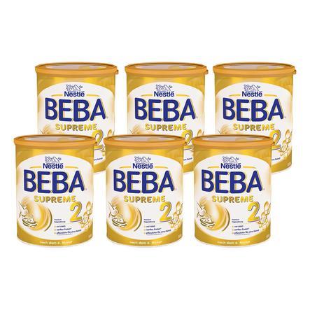 Nestlé Folgenahrung BEBA SUPREME 2 6 x 800 g nach dem 6. Monat