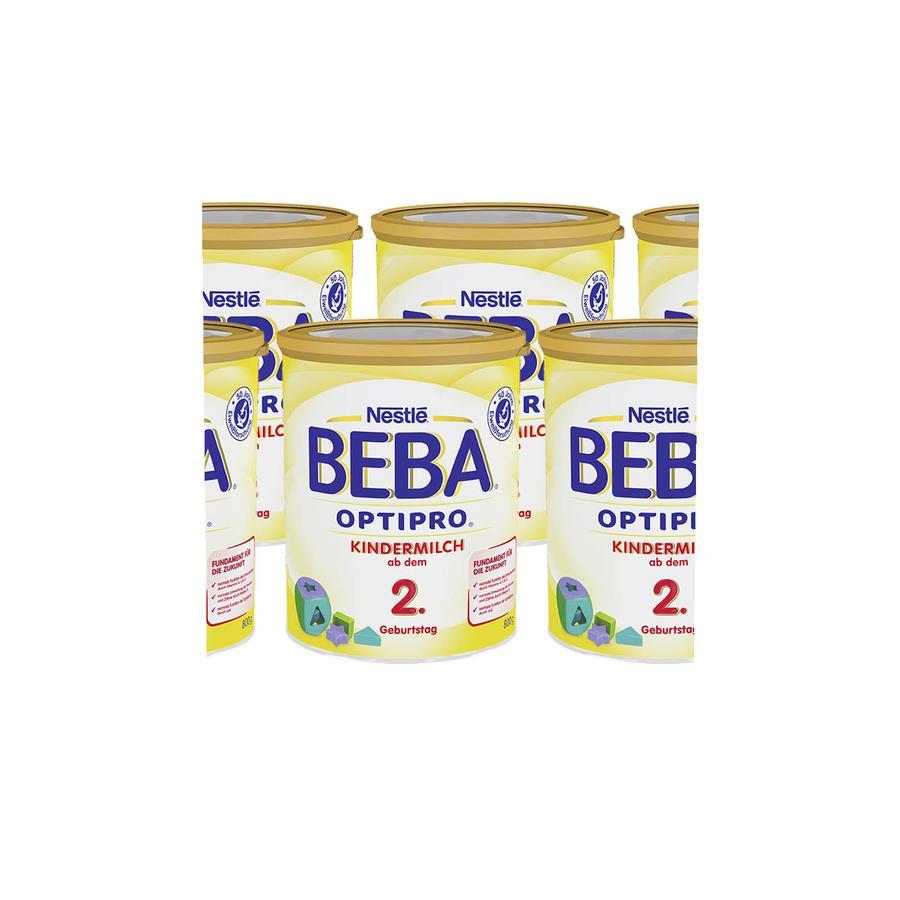 Nestlé BEBA OPTIPRO Kindermilch 2 6 x 800 g ab dem 2. Jahr