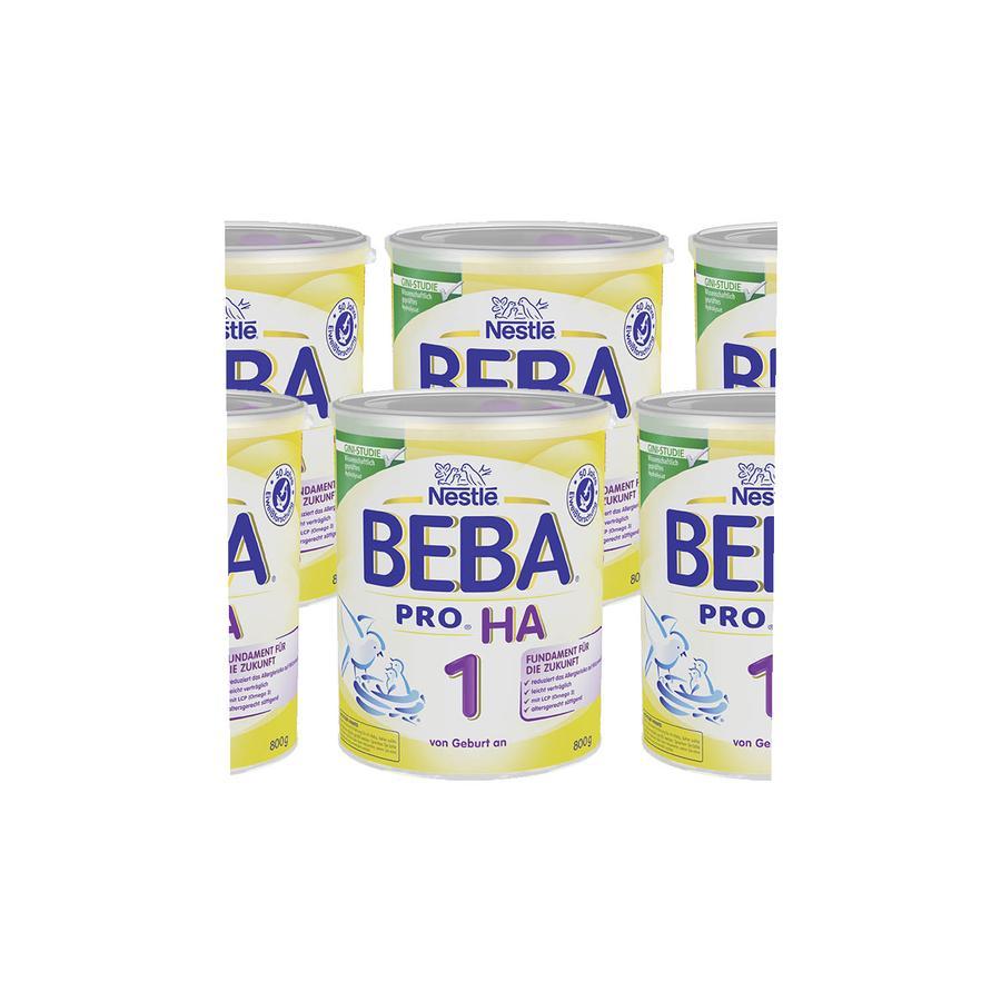 Nestlé BEBA PRO HA 1 Anfangsnahrung 6 x 800 g ab der Geburt
