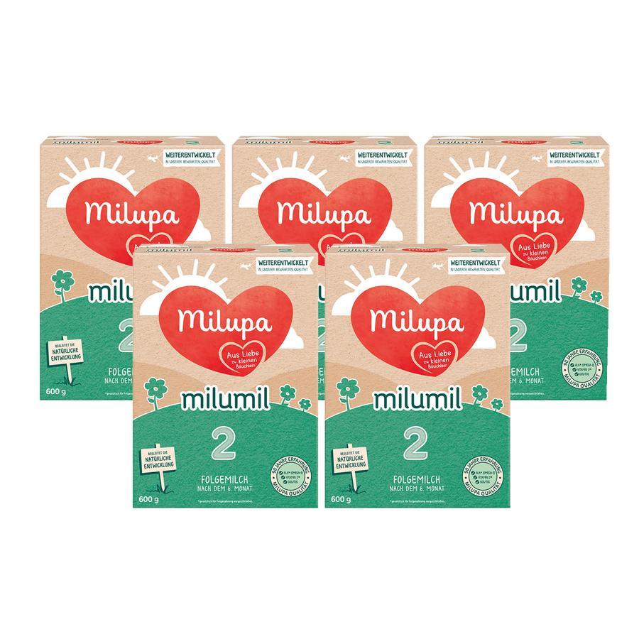 Milupa Folgemilch Milumil 2 5 x 600 g nach dem 6. Monat
