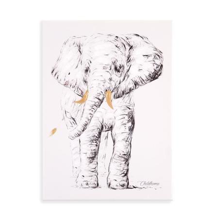CHILDHOME Ölgemälde Elefant 30 x 40 cm
