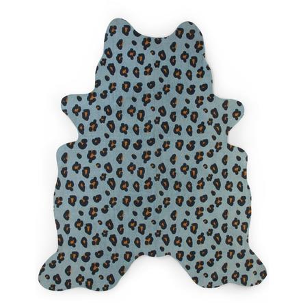 CHILDHOME Leopard Teppich blau 145 x 160 cm