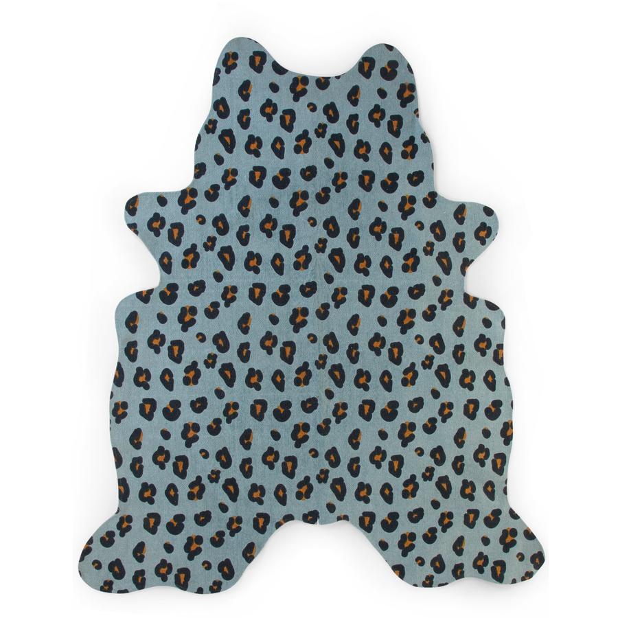 CHILDHOME Tapis enfant léopard bleu 145x160 cm