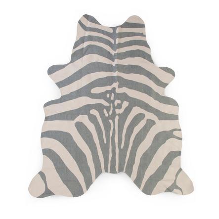 BARNEHJEM Zebra teppe grå 145 x 160 cm