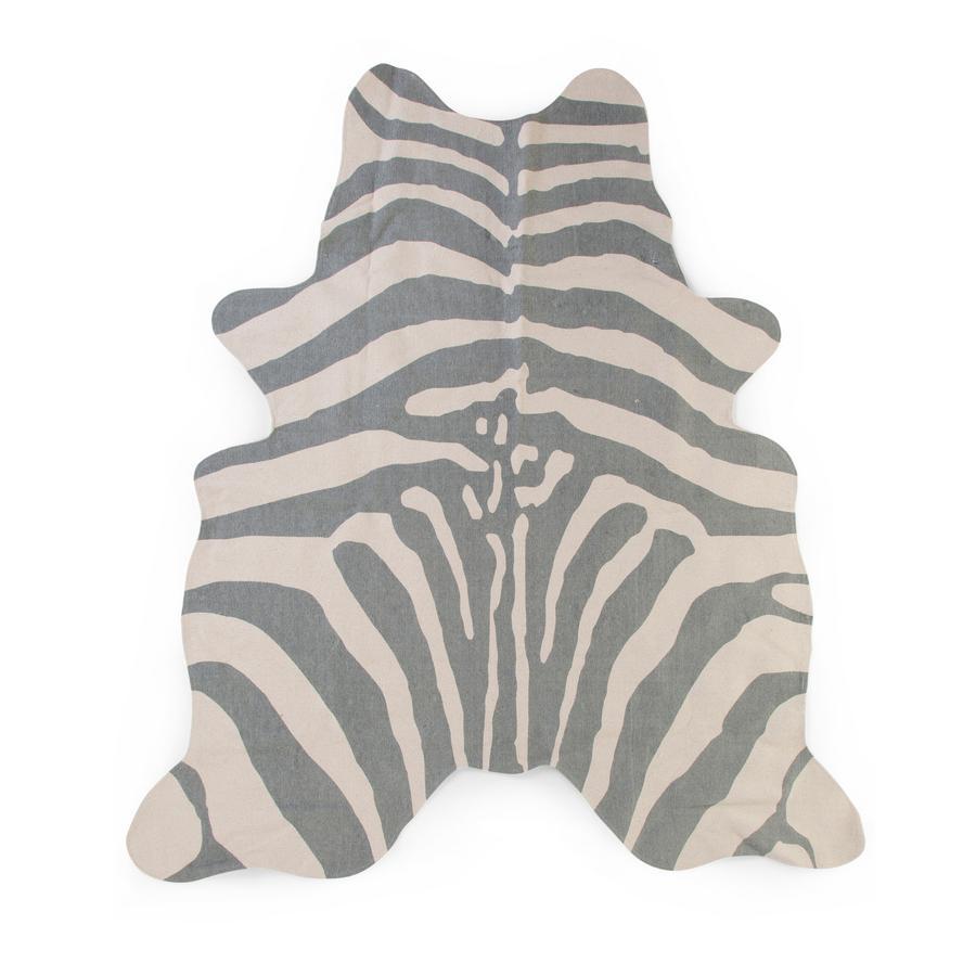 CHILDHOME Zebra Teppich grau 145 x 160 cm