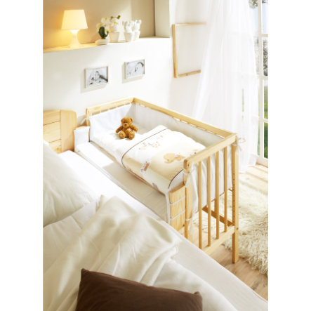 TICAA Lettino co-sleeping - Pino massiccio - Naturale