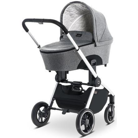 MOON Wózek dziecięcy Resea Kombi silver/black panama