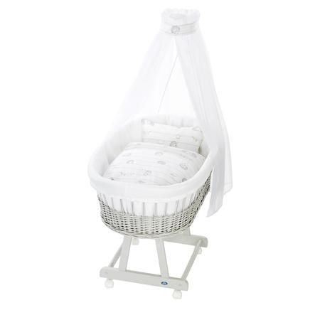 Alvi® Komplettstubenwagen Birthe silbergrau, Stachelfreunde
