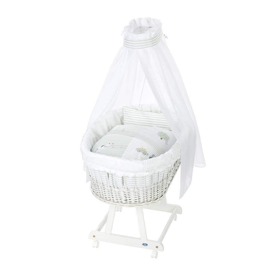 Alvi ® Komplett fødsel rørvogn hvit, gård
