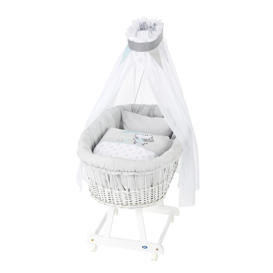 Alvi ® Carro de Birth tubos completo y blanco, Gotas de lluvia