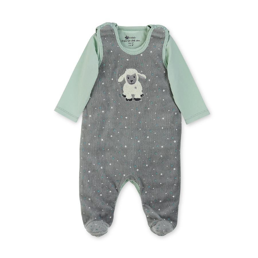 Sterntaler Ensemble grenouillère t-shirt enfant coton Nicki Stanley gris