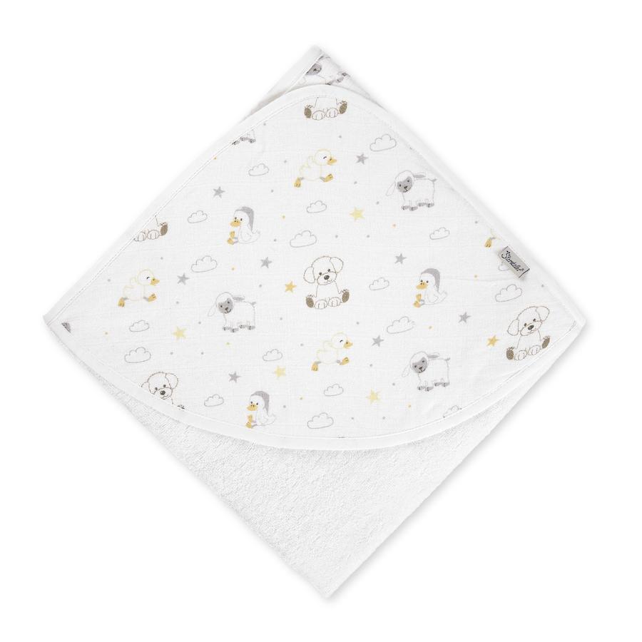 Sterntaler Hættehåndklæde muslin frotté klud 80 x 80 cm