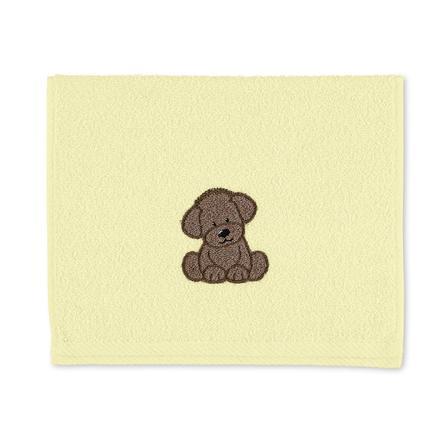 Sterntaler Serviette de bain enfant Hanno chien jaune 50x30 cm
