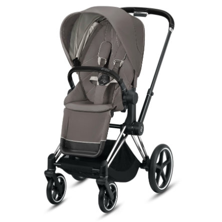 cybex PLATINUM Kinderwagen Priam - Rahmen Chrome schwarz inklusive Lux Sitz in Soho Grey