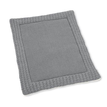 Sterntaler Tapis d'éveil tricoté mélange argenté 100x80 cm