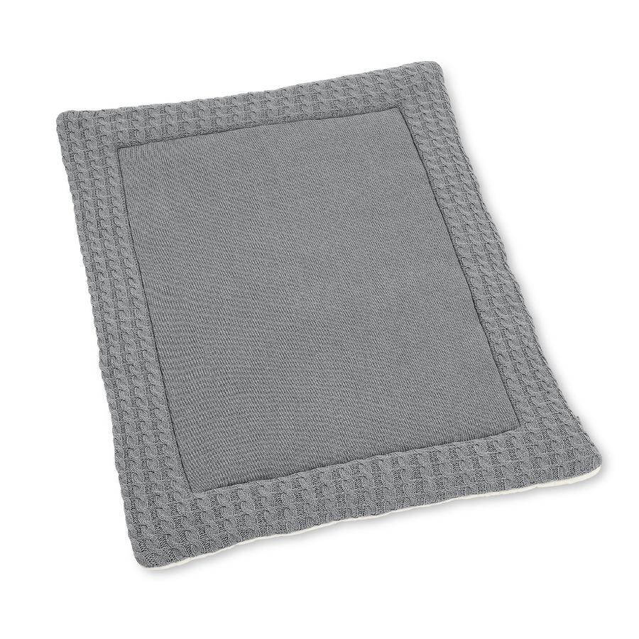 Pletená přikrývka Sterntaler Pletená přikrývka GOTS stříbrná strakatá 100 cm x 80 cm