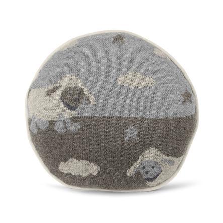 Sterntaler Neulottu pehmoinen tyyny hopea merkitty