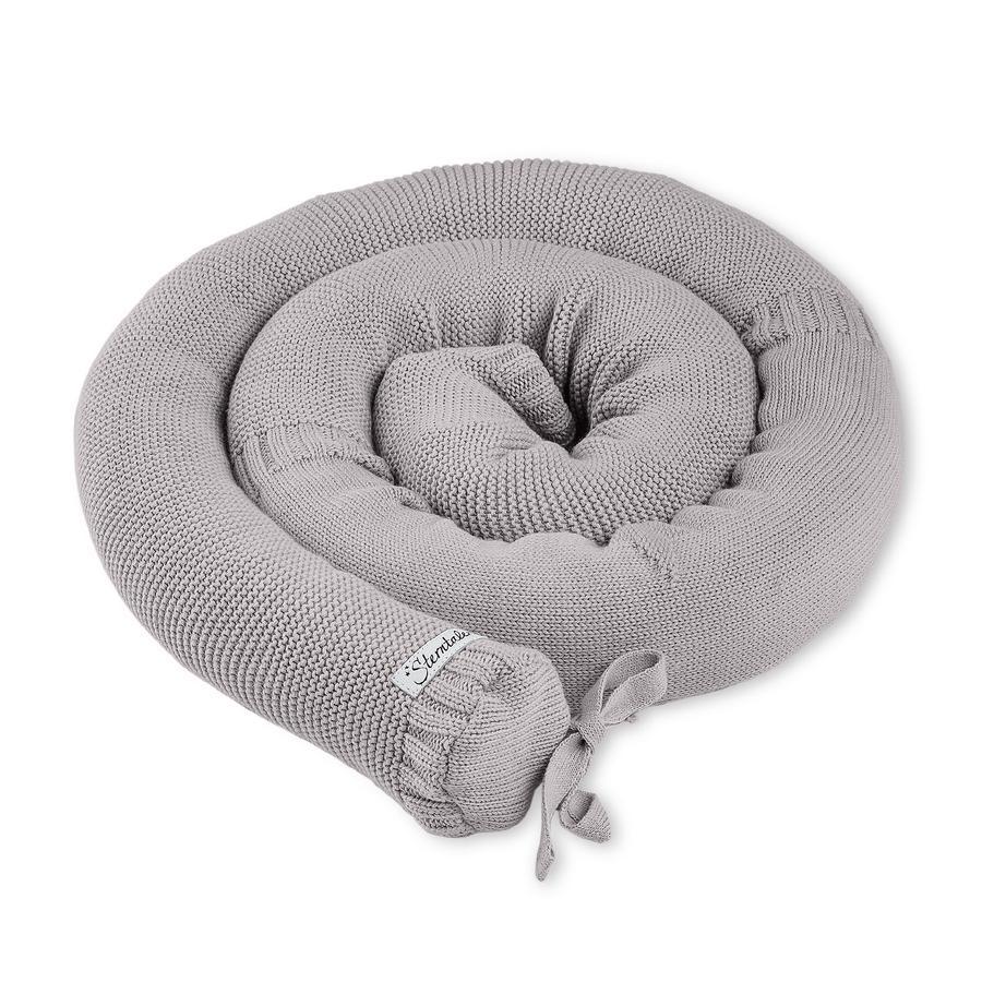 Sterntaler Tour de lit traversin enfant tricoté Baylee gris 180x8 cm