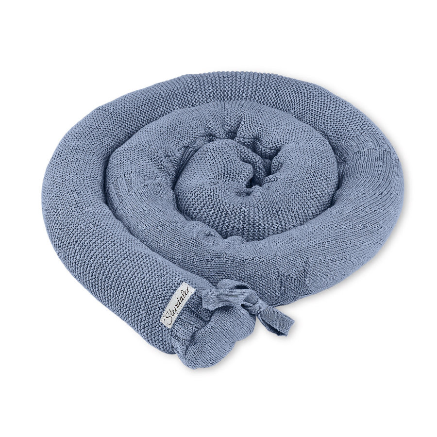 Sterntaler Paracolpi salsicciotto in maglia Baylee blu