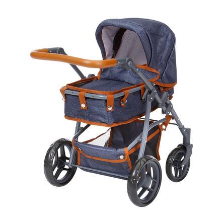 knorr® speelgoed poppenwagen Juna - donkerblauw