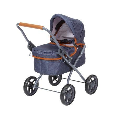 knorr® speelgoed kinderwagen Mini Lili - donkerblauw