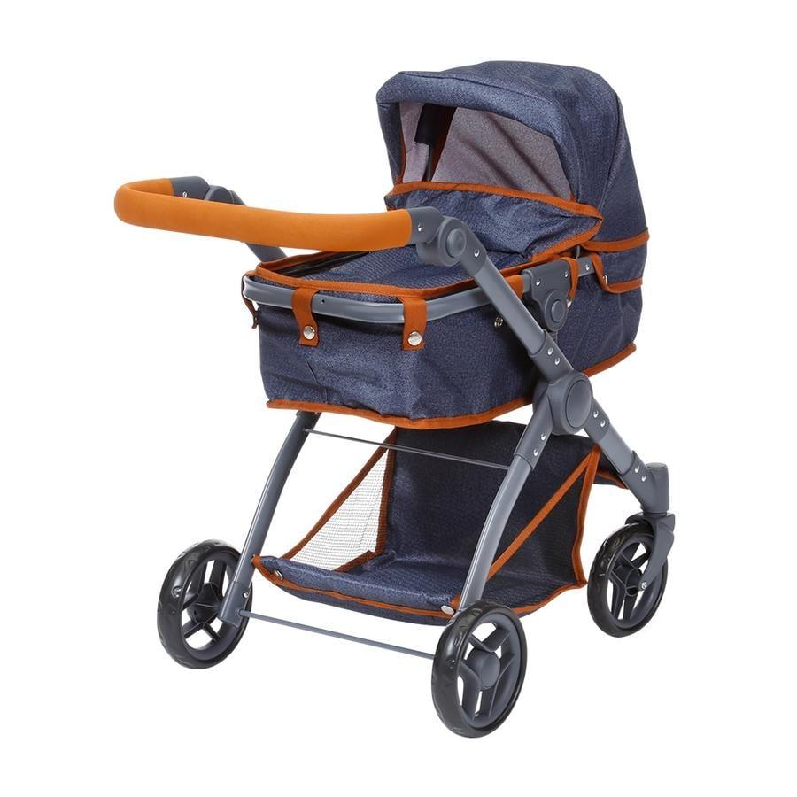knorr® speelgoed Kio poppenwagen - donkerblauw