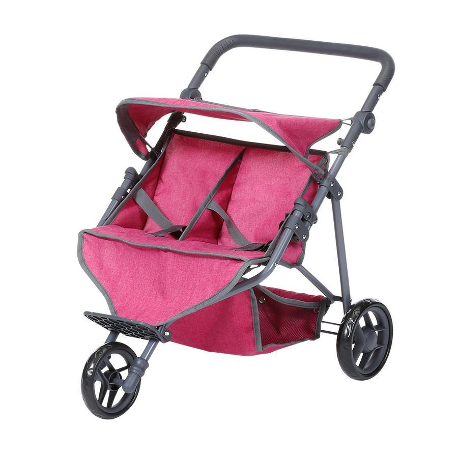 zabawki knorr® podwójny wózek dla lalek Duo - berry