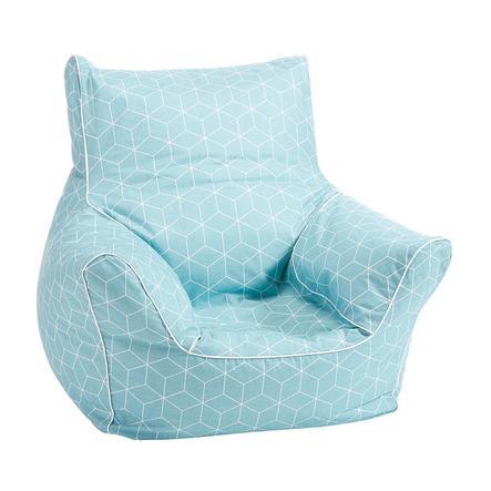 knorr® toys Kindersitzsack - Geo cube neo mint
