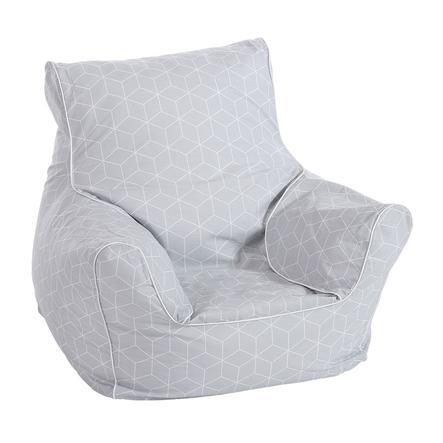 Knorr® hračky dětská sedačka - Geo kostka šedá
