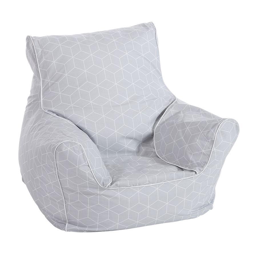 knorr®toys Siedzisko dla dzieci -  Geo cube grey