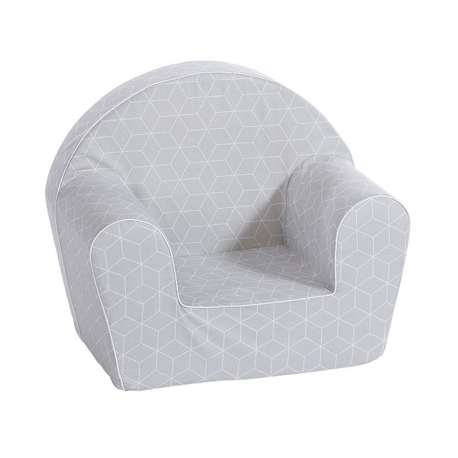 knorr® toys Fauteuil enfant - Geo cube gris
