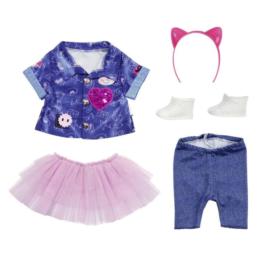 Zapf Creation BABY born® Deluxe Jeanskleid Set, 43 cm