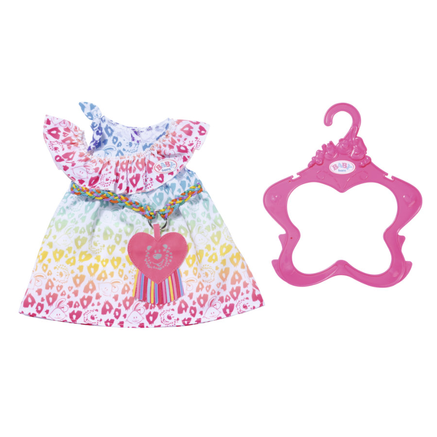 Zapf Creation BABY born® Rainbow Leo kjole, 43 cm