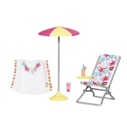 Zapf Creation BABY born® Holiday Liegestuhl Set, 43 cm