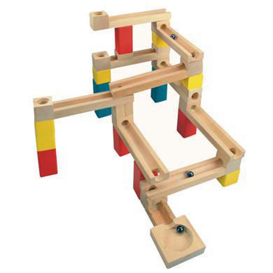 BINO Circuit de billes en bois, 33 pièces