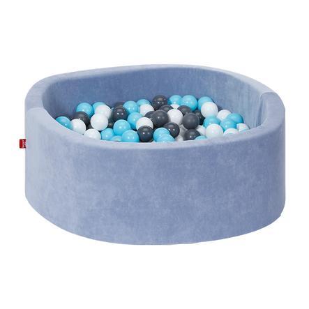 knorr® toys pallokylpy pehmeä - pehmeä sininen, mukaan lukien 300 palloa kerma / harmaa / vaalean sininen
