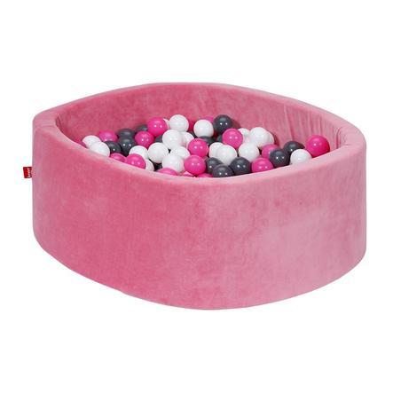 knorr® toys Bällebad soft - Soft pink inklusive 300 Bälle creme/grey/rose