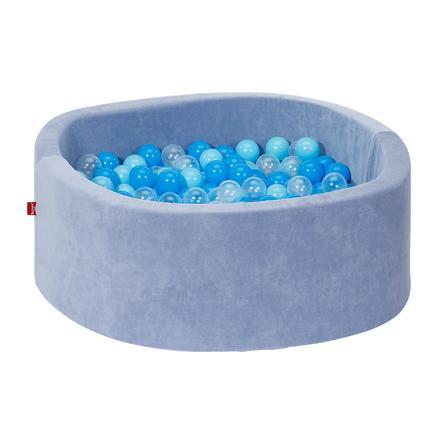 knorr® toys Bällebad soft - Soft blue inklusive 300 Bälle soft blue/blue/transparent