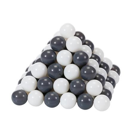 knorr® leksaksbollsats Ø 6 cm - 100 bollar grå / grädde