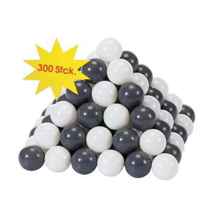 knorr® leksaksbollsats Ø 6 cm - 300 bollar grå / grädde