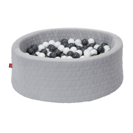 knorr® toys Bällebad soft - Cosy geo grey inklusive 300 Bälle grey/creme
