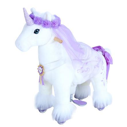 PonyCycle® Yksisarvinen violetilla sarvella, pieni