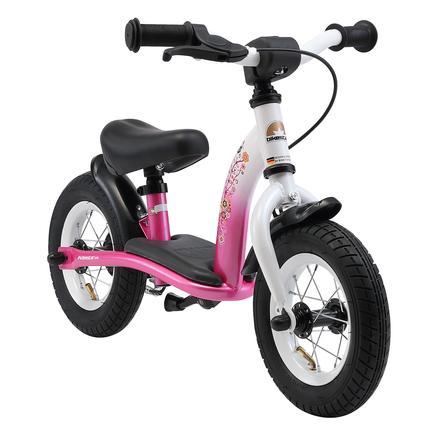 BIKESTAR® Potkupyörä käsijarrulla 10'', pinkki-valkoinen