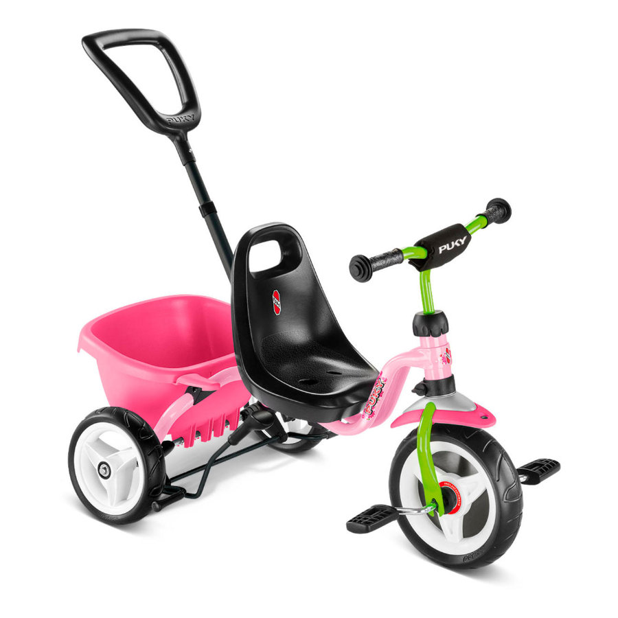 PUKY® Tricycle enfant Ceety, roues confort, kiwi/rose 2219