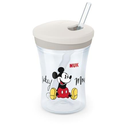 NUK Trinklernbecher Action Cup 230 ml mit Trinkhalm Disney Mickey
