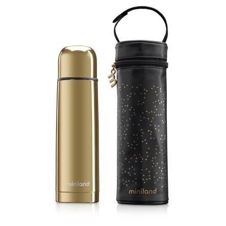 miniland deluxe thermos Botella termo con bolsa aislante dorada 500ml